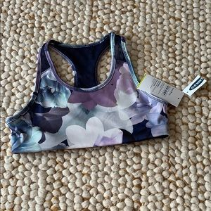 ON ACTIVE Floral Girls Sports Bra Sz L (10/12) NEW